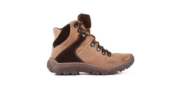 Dámské zateplené kotníčkové boty v hnědých odstínech Maxim
