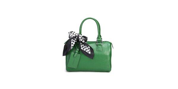 Trávově zelená kabelka Belle & Bloom s ozdobným šátkem