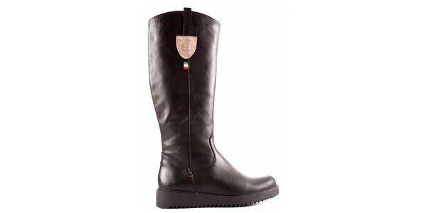 Dámské černé boty se zipem Karino