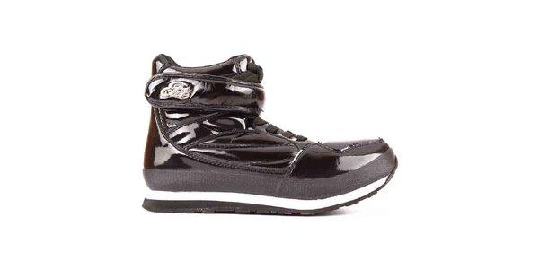Dámské černé lesklé boty Elite
