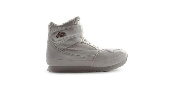 Dámské bílé lesklé boty Elite