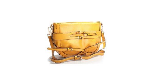 Hořčicově žlutá kabelka přes rameno