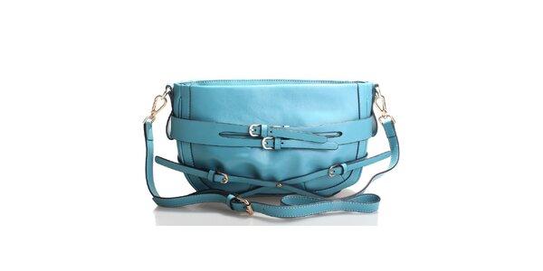 Azurově modrá kabelka přes rameno