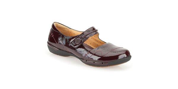 Dámské lakované boty v barvě bodró Clarks