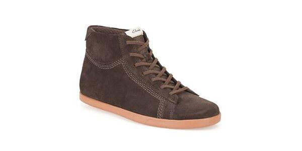 Pánské hnědé semišové boty Clarks