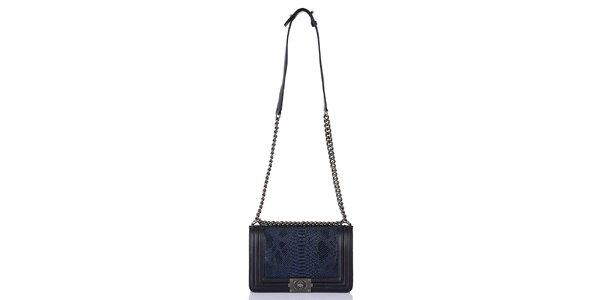 Dámská modro-černá kabelka se šupinatým vzorem Giorgio di Mare