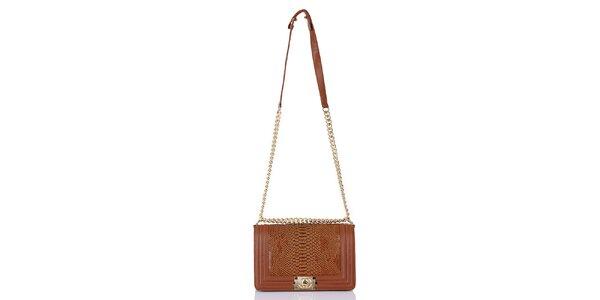 Dámská kabelka se šupinatým vzorem Giorgio di Mare - hnědý odstín