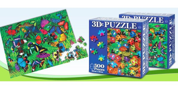 500 dílků puzzel se speciálním 3D efektem