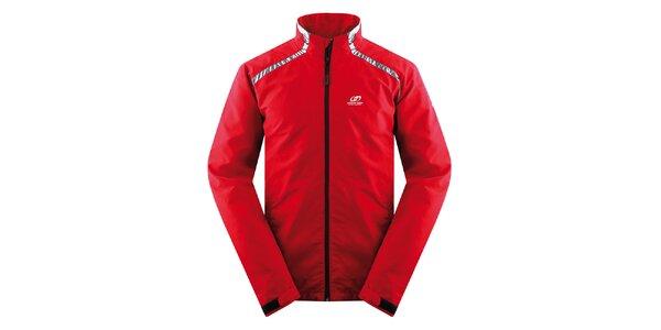 Pánská červená bunda s antracitovými prvky Hannah