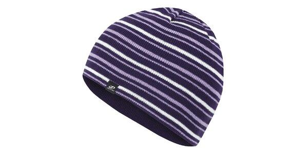 Fialová pruhovaná čepice Hannah