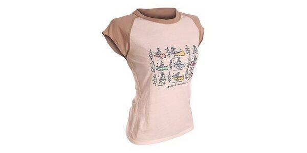 Dámské bavlněné triko s potiskem Hannah