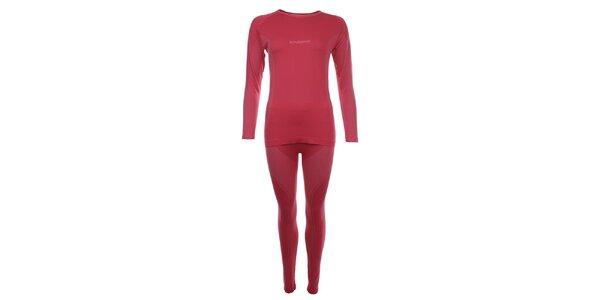 Dámský set červeného termoprádla Fundango - triko a kalhoty