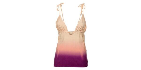 Dámský růžovo-fialový top Fundango s barevnými přechody