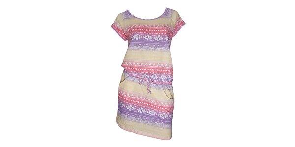 Dámské barevné šaty s aztéckým vzorem Fundango
