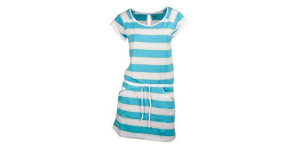 Dámské modře pruhované šaty Fundango