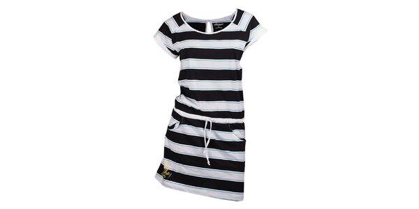 Dámské černě pruhované šaty Fundango