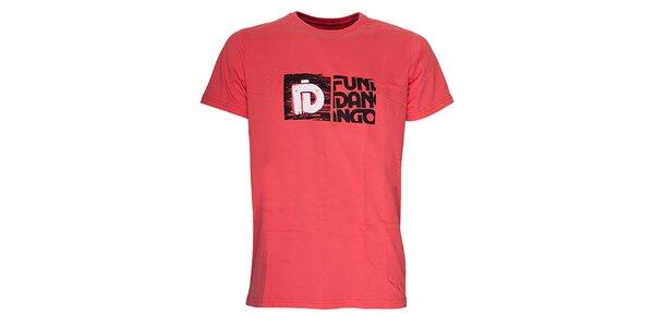 Pánské triko s potiskem Fundango - červenooranžové