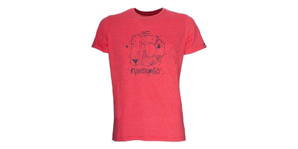 Pánské tričko s krátkým rukávem Fundango - červený odstín