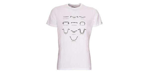 Pánské bílé triko Fundango - s potiskem