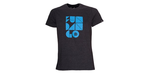 Pánské černé triko s potiskem Fundango