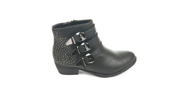 Dámské černé boty se cvočky Destroy