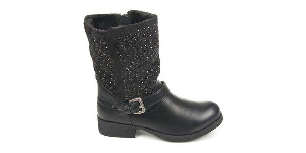 Dámské černé boty s ozdobnými detaily Destroy