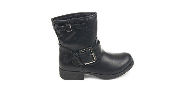 Dámské černé boty s přezkami Destroy