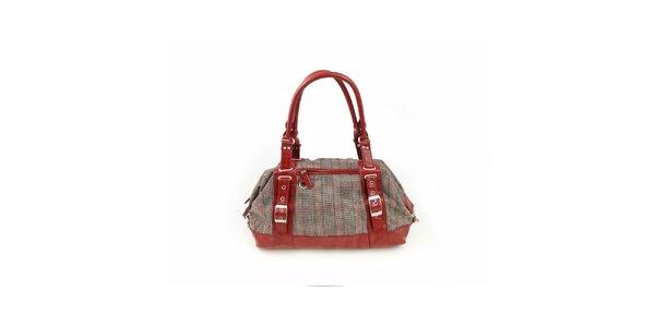 Dámská červená kostkovaná kabelka Hippyssidy