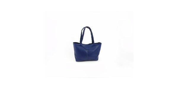 Dámská tmavě modrá kabelka Hippyssidy s propletenými uchy