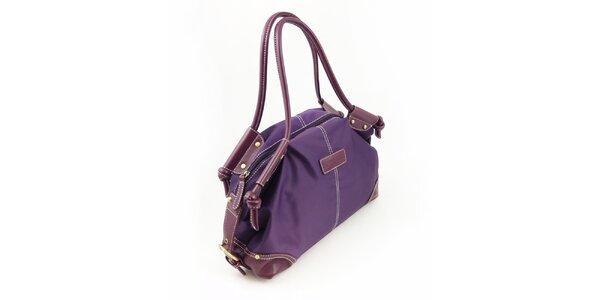Dámská fialová nylonová kabelka Hippyssidy