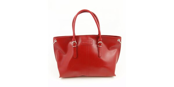 Dámská sytě červená kabelka Hippyssidy