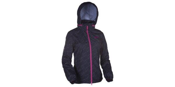 Dámská černá vzorovaná bunda s kapucí Kilpi