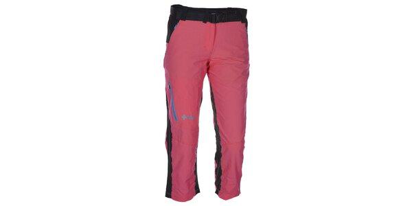 Dámské 3/4 růžovo-černé kalhoty Kilpi