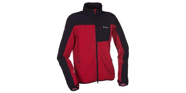 Pánská červeno-černá softshellová bunda s límcem Kilpi