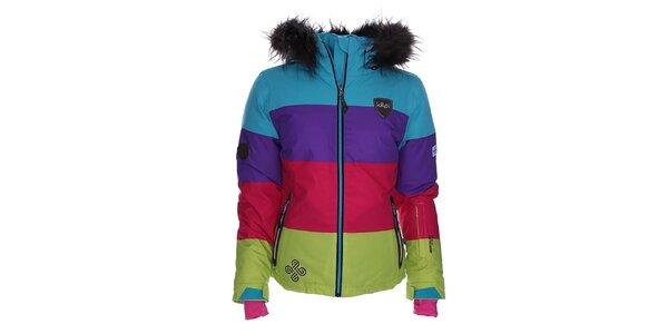 Dámská barevně pruhovaná snowboardová bunda Kilpi