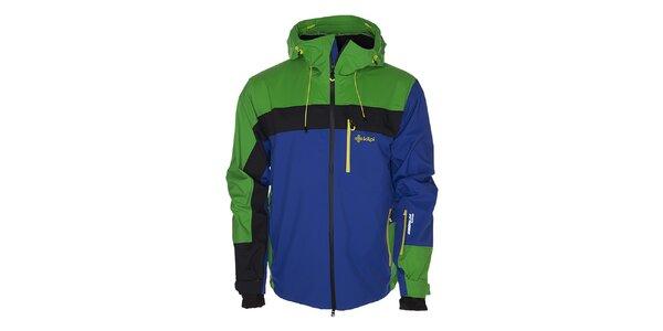 Pánská modro-zelená lyžařská bunda Kilpi