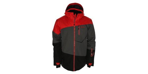 Pánská šedo-černo-červená snowboardová bunda Kilpi