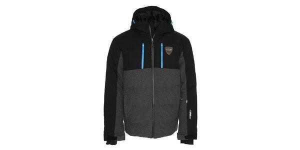 Pánská šedo-černá lyžařská bunda Kilpi