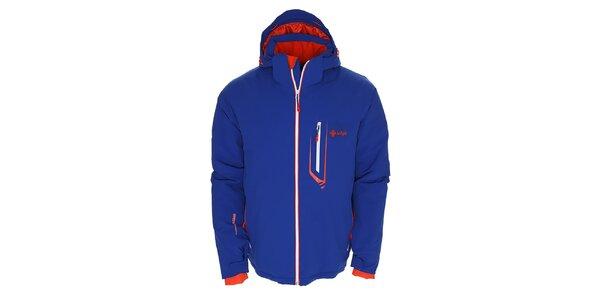 Pánská modrá lyžarská bunda s kontrastními detaily Kilpi