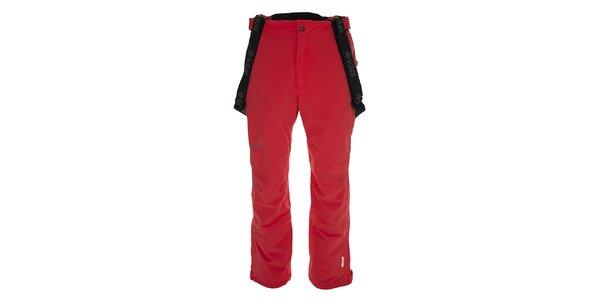 Pánské červené lyžařské kalhoty s kšandami Kilpi