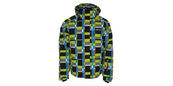 Pánská šedo-modro-zelená lyžařská bunda Kilpi