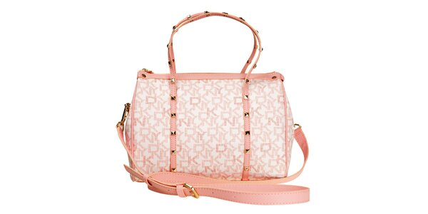 Dámská růžová kabelka s pyramidkami DKNY