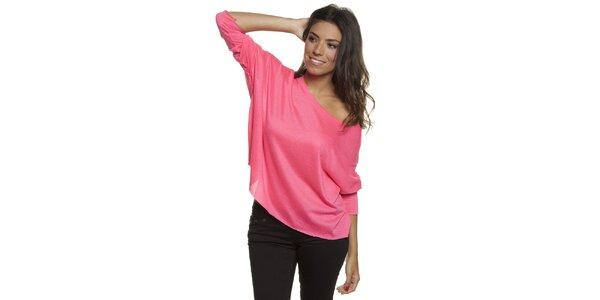Dámské růžové volné tričko Blue Velvet