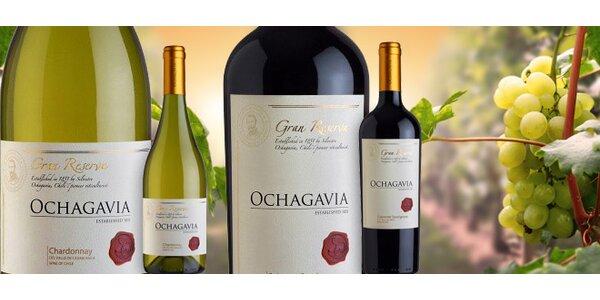 2 lahve vyzrálého chilského vína Ochagavia