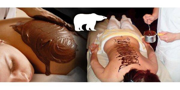 360 Kč za dlouhou čokoládovou masáž de luxe s odpočinkovým zábalem. Léčivé…