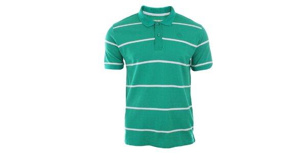 Pánské zelené polo tričko s proužky Timeout