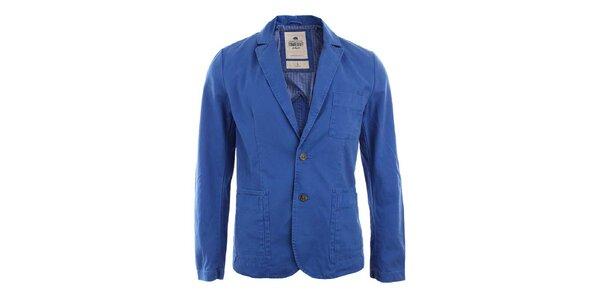 Pánské modré sako s knoflíky Timeout
