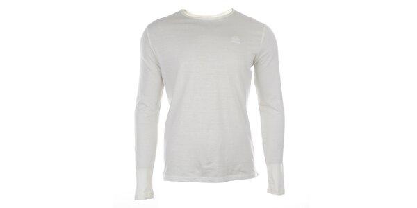 Pánské bílé triko s dlouhým rukávem Timeout
