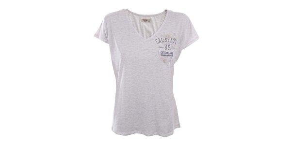 Dámské melírované tričko s potiskem Timeout