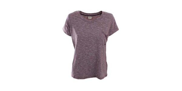 Dámské žíhané tričko v bordó barvě Timeout